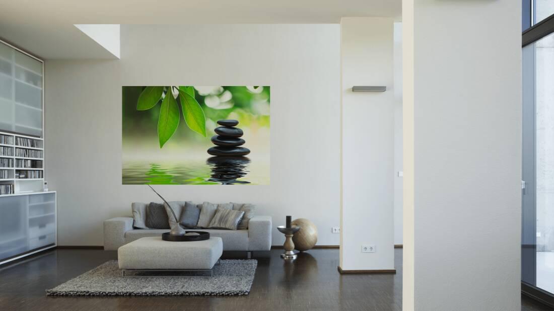 livingwalls fototapete wellness steine im wasser m 470375. Black Bedroom Furniture Sets. Home Design Ideas
