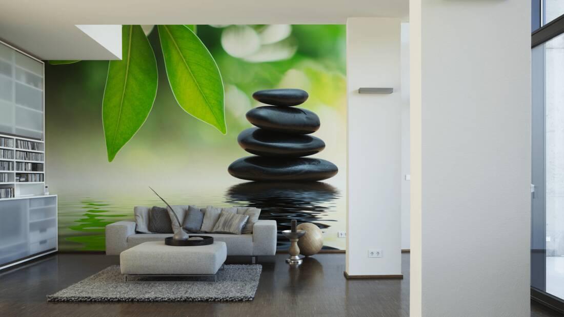 Wellness steine wallpaper  Livingwalls Photo wallpaper «Spa» 470375
