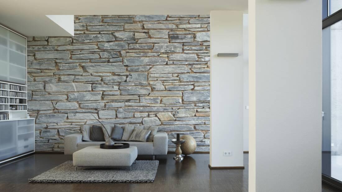 livingwalls fototapete natursteinwand 470745. Black Bedroom Furniture Sets. Home Design Ideas