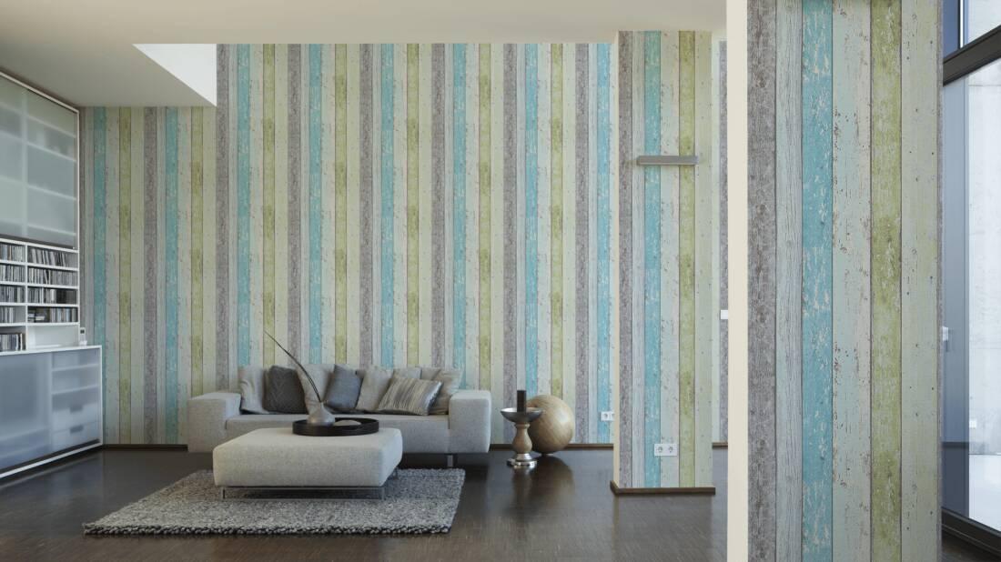 Livingwalls #surfing and #sailing 855077 wallpaper wood look blue ...