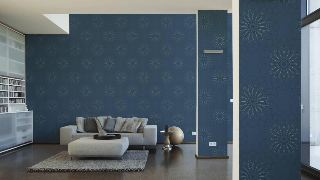 blaue tapeten schlafzimmer | möbelideen - Tapete Blau Schlafzimmer