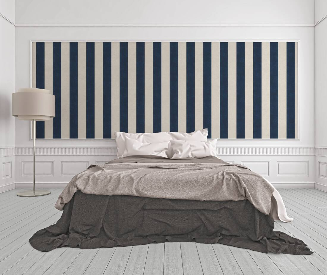 A.S. Création Wallpaper «Stripes, Beige, Blue, Grey, Taupe ...