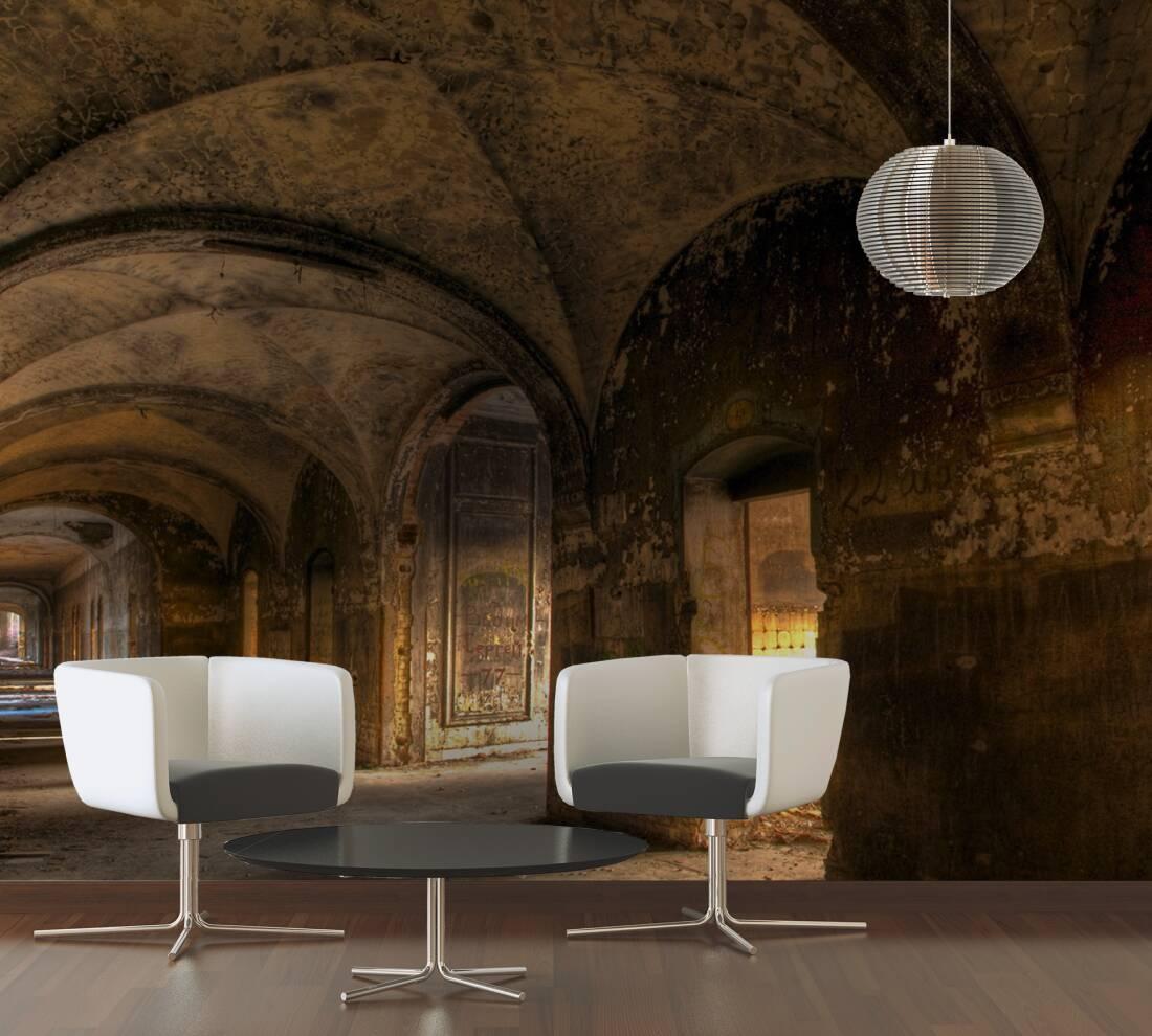 livingwalls photo wallpaper vintage villa vault 036040. Black Bedroom Furniture Sets. Home Design Ideas