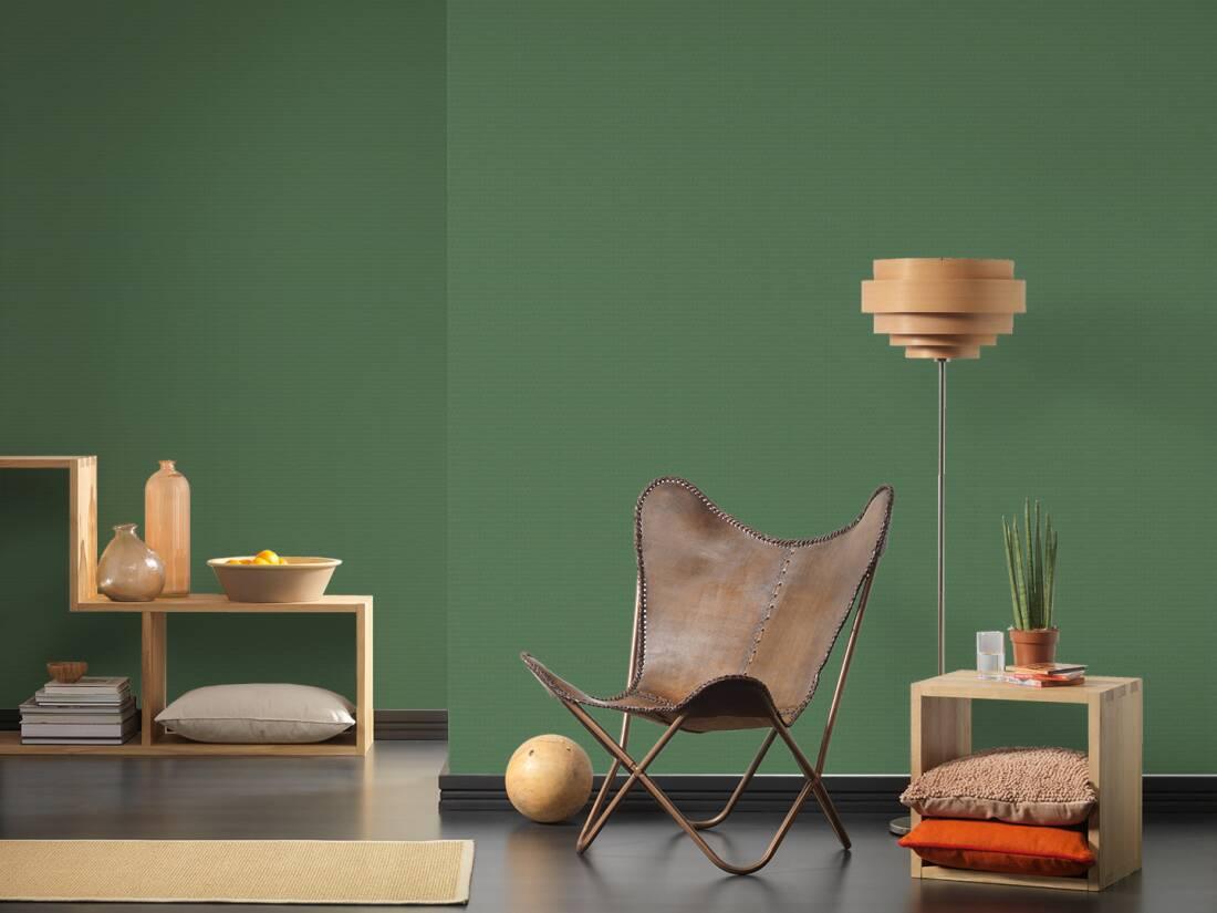 2,77 €//1qm Nappes Papier Peint Structure Uni-Design Vert A.S CREATION 37268-5