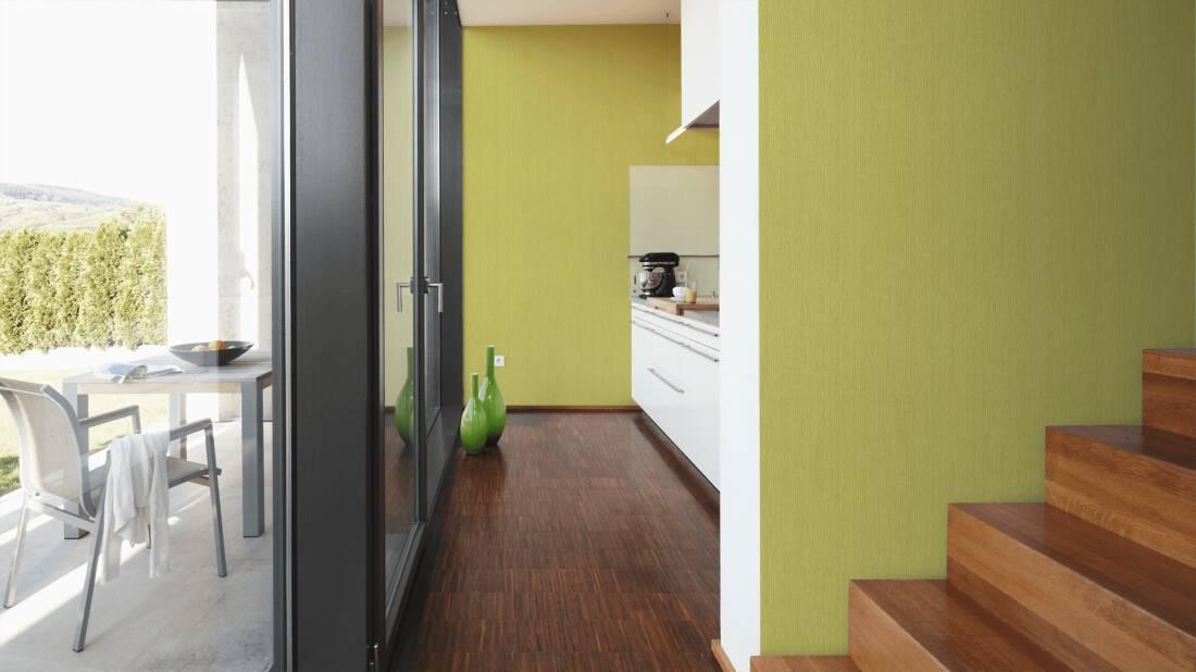 non-woven wallpaper wood optics blue green wallpaper livingwalls ...